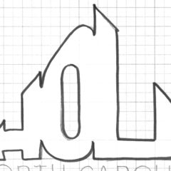 "Hola NC ""First Drafts"" Logo Design"